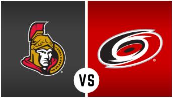 Carolina Hurricans vs. Ottowa Senators Game Tickets